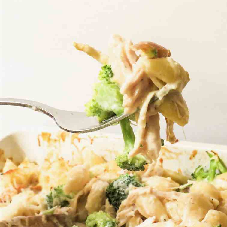 Roasted Chicken - Broccoli Alfredo