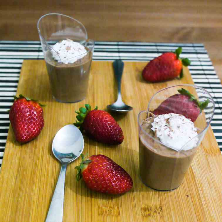 Easy Chocolate Mousse for two on Valentine