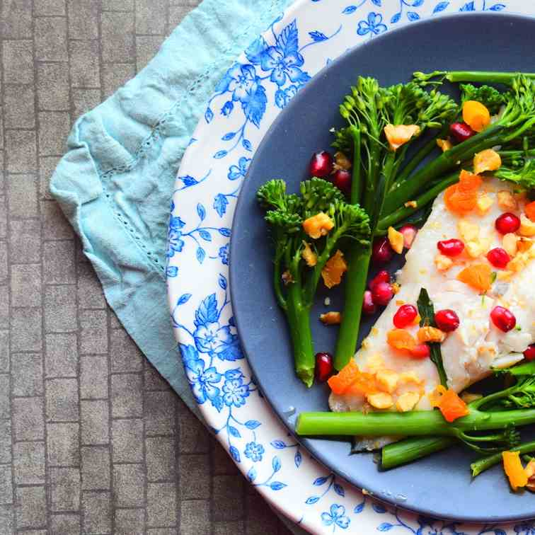 Sea Bass With Tenderstem Broccoli