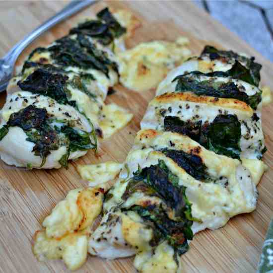 Gouda Spinach Hasselback Chicken