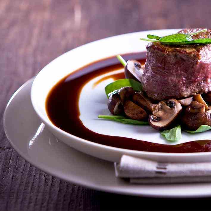 Angus Fillet with Swiss Mushrooms, Smoked