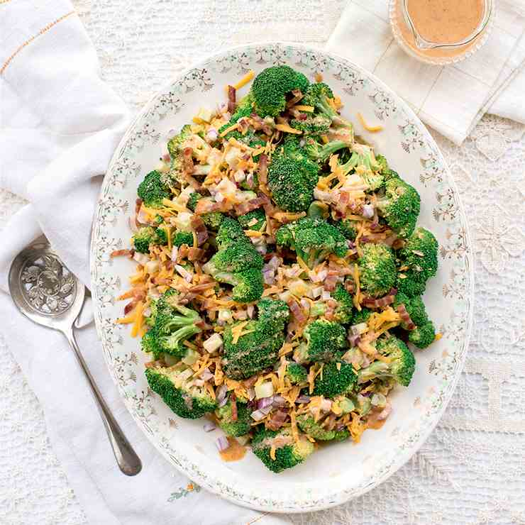 Broccoli Salad with Bacon and Cheddar