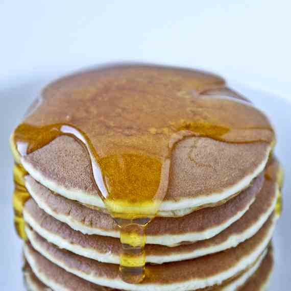 Buckwheat Pancakes With Maple Syrup