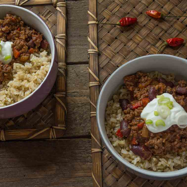 Chilli con Carne with Brown Rice