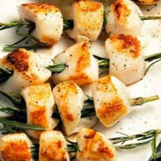 Rosemary-Skewered Scallops