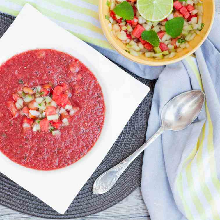 Watermelon Gazpacho Soup