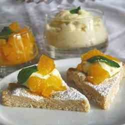 Brown Sugar Shortbread, Orange Mascarpone