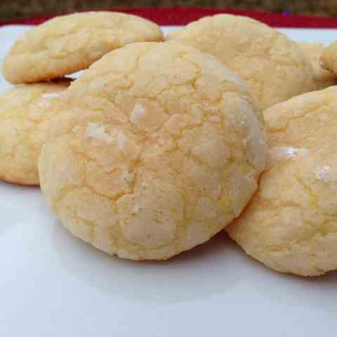 Mellow Lemon Crinkle Cookies