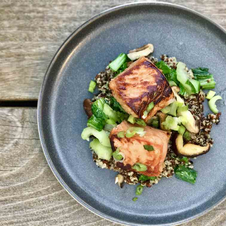 Teriyaki King Salmon With Quinoa