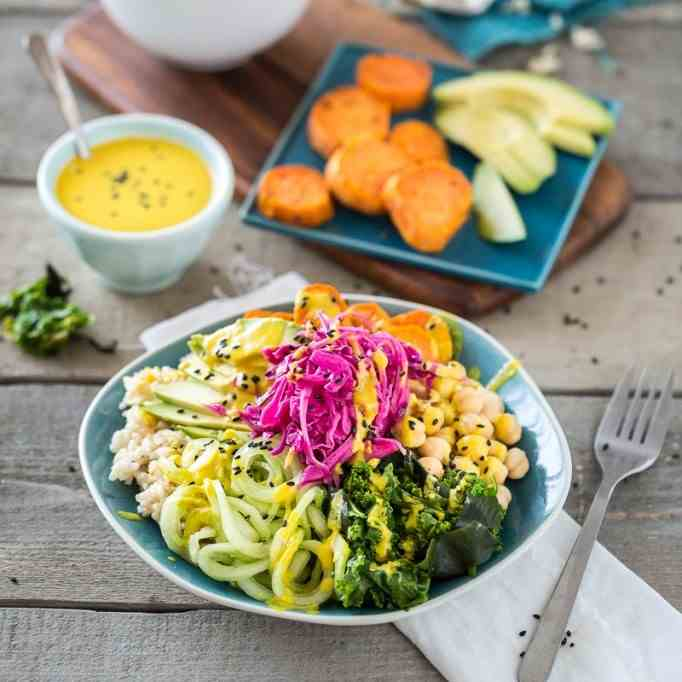 Macro Bowl With Turmeric-Tahini Dressing