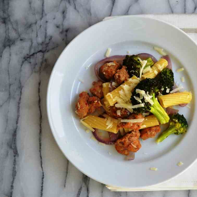 Rigatoni with Roasted Sausage and Broccoli