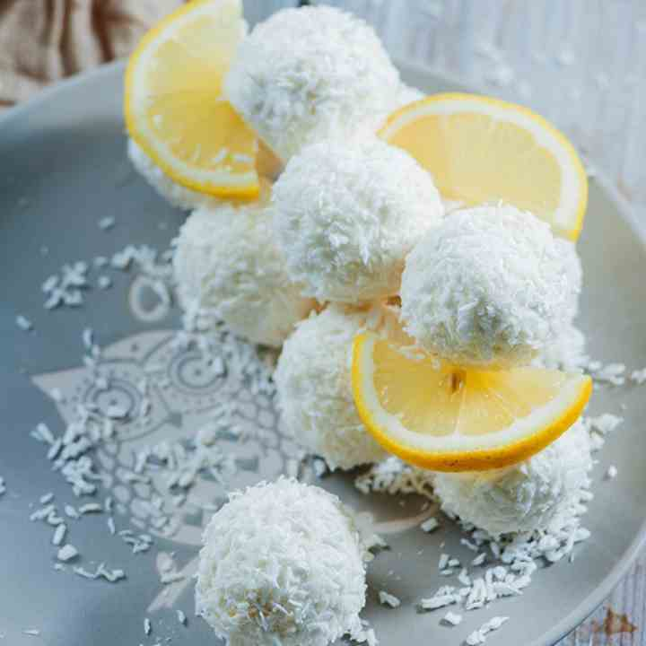 Lemon Coconut Cream Cheese Balls