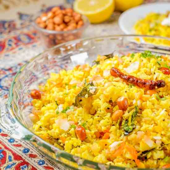 Cauliflower Lemon Rice (Indian Style)