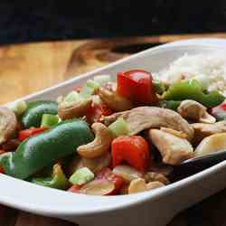 chicken with peppers & cashew nuts