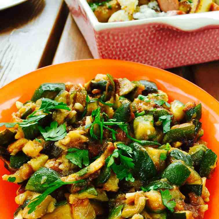 Best ever summer courgette salad