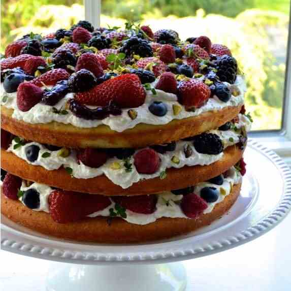 TRIPLE LAYER TRIPLE BERRY CAKE