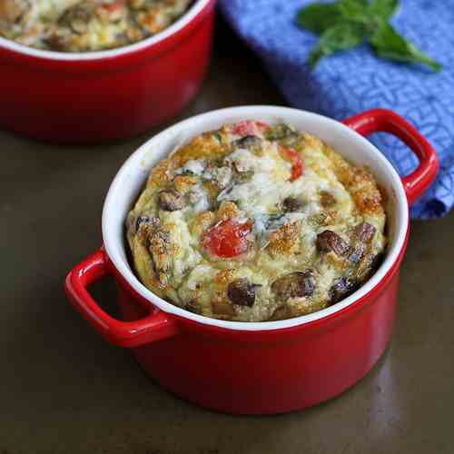 Make-Ahead Baked Eggs with Turkey Sausage