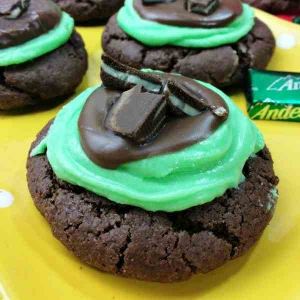Andes Mint Grasshopper Cookies
