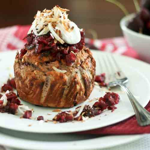 Coconut Cherry Breakfast Bake