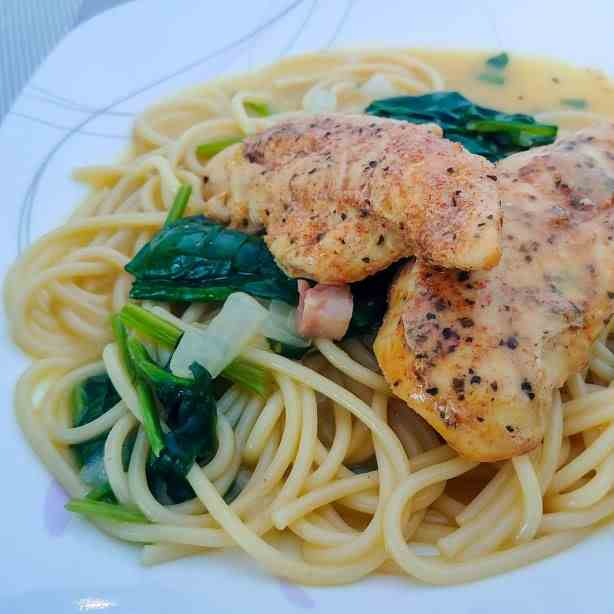 Easy Chicken with Creamed Spinach