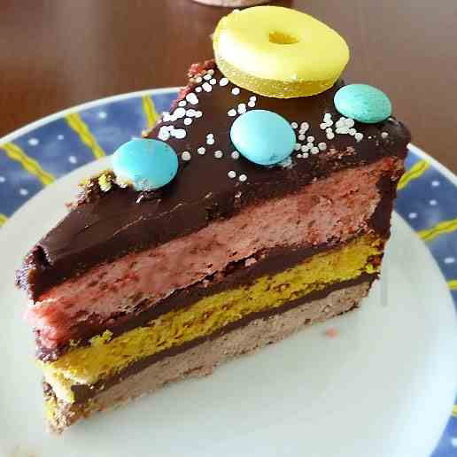 Colored layer cake