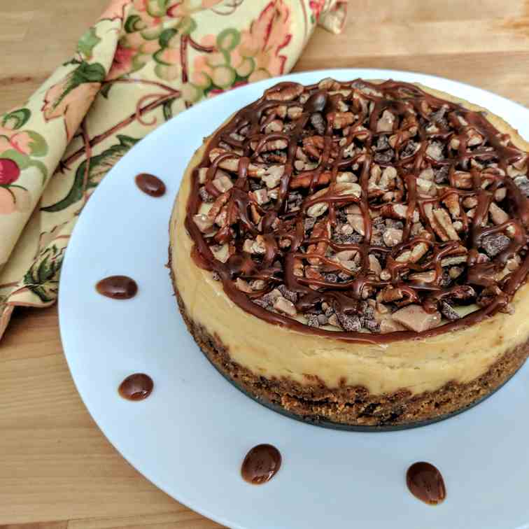 Pressure Cooker Turtle Cheesecake