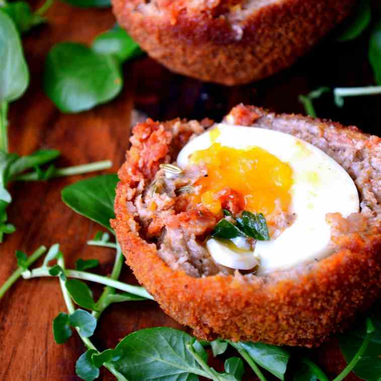 Chorizo and Fennel Scotch Eggs