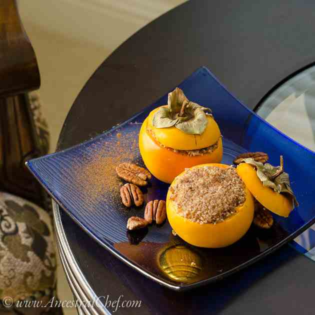 Persimmon Dessert Cups Stuffed with Butter