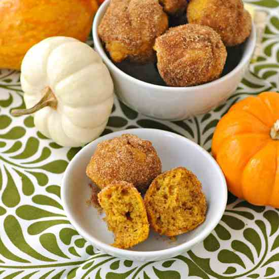 Sugar & Spice Pumpkin Mini Muffins