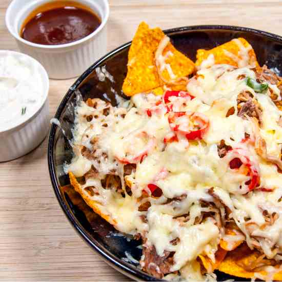 Doritos with Cheesy Pulled Pork