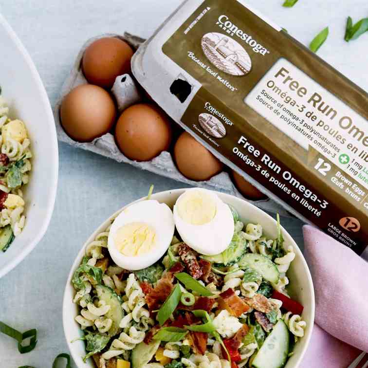 Gluten-free Bacon - Egg Pasta Salad