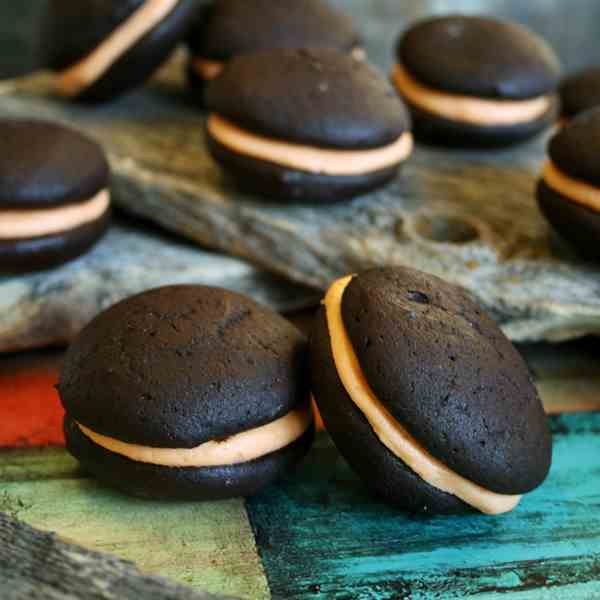Black Licorice Whoopie Pies