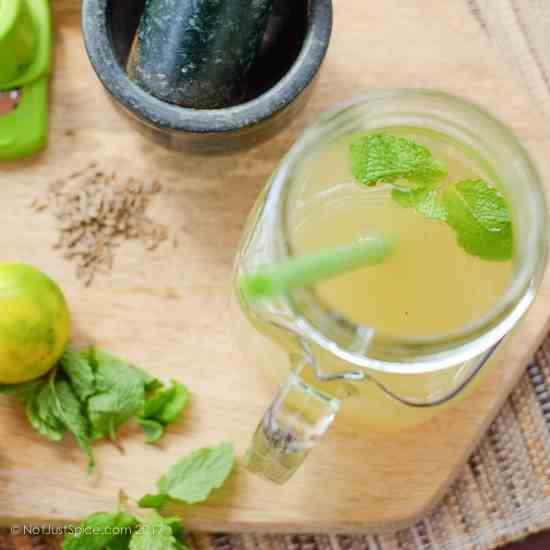 Refreshing Ginger, Mint and Cumin Limeade