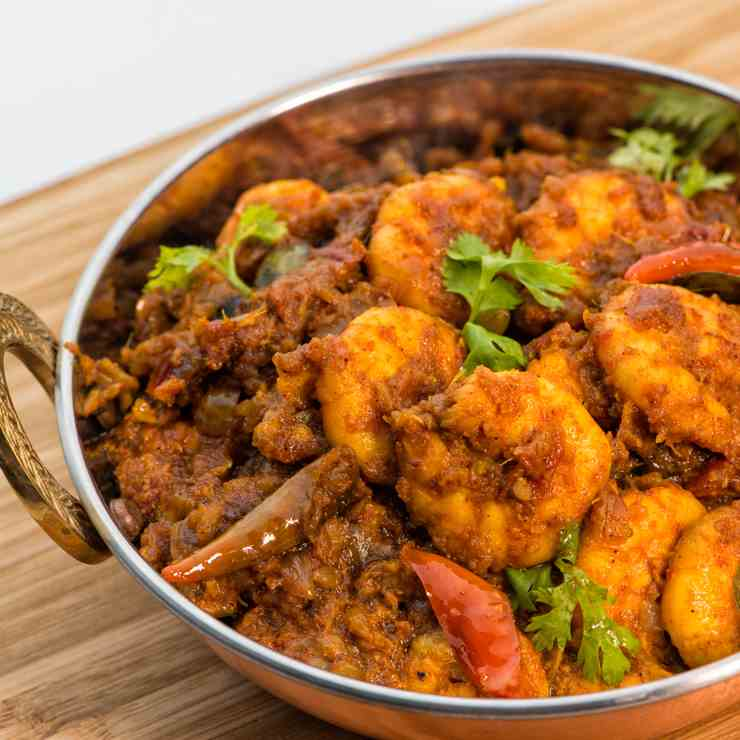 Spicy Prawns Masala (Andhra Style)