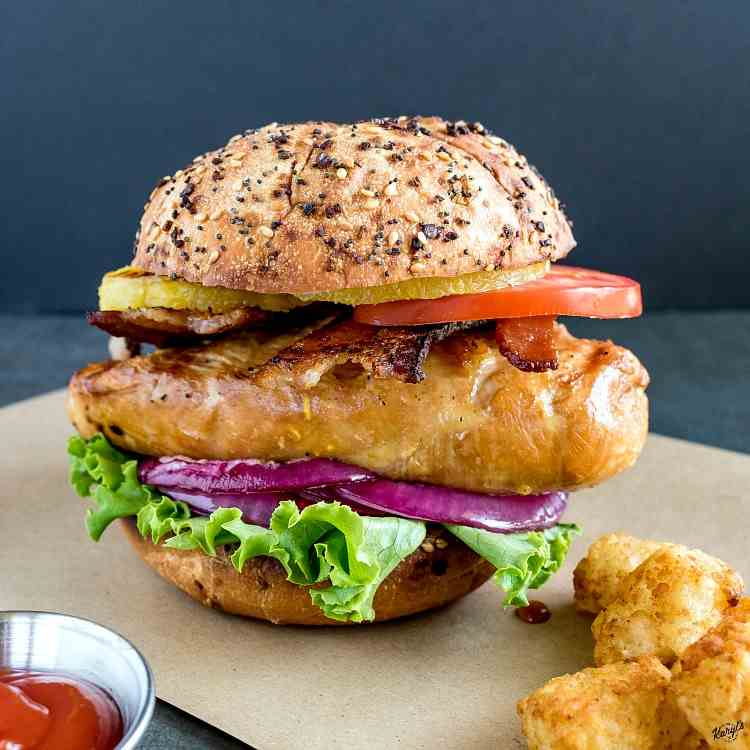 Citrus Marinated Grilled Chicken Sandwich