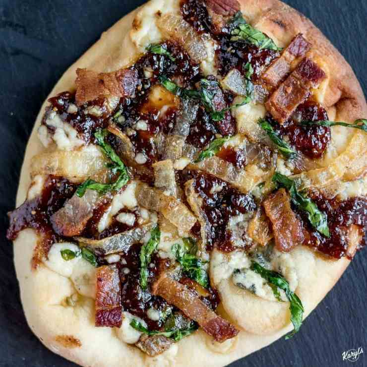 Bacon Fig Gorgonzola Pizza