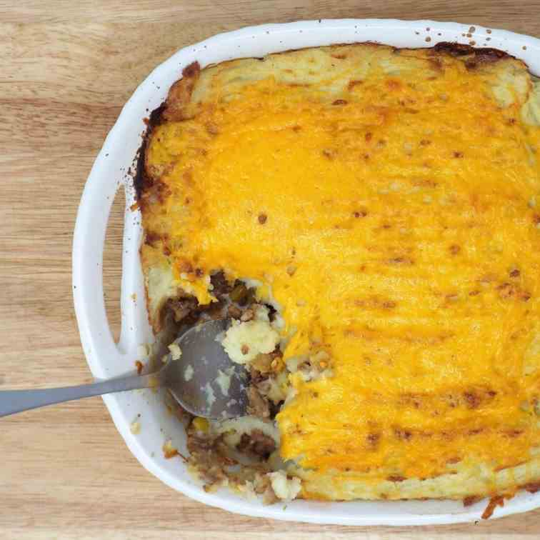 Cheesy Cottage Pie