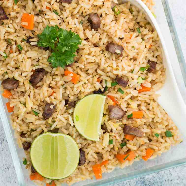 Thai Dried Beef Fried Rice