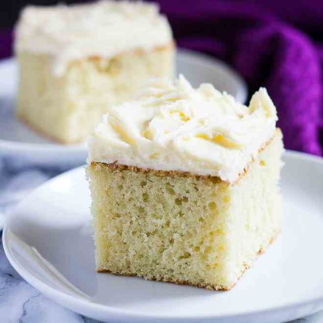 Perfect Vanilla Sheet Cake