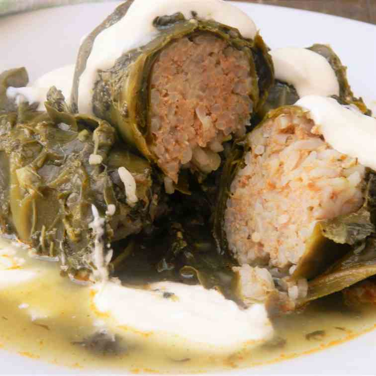 Stuffed Collard Greens Recipe-With Spinach