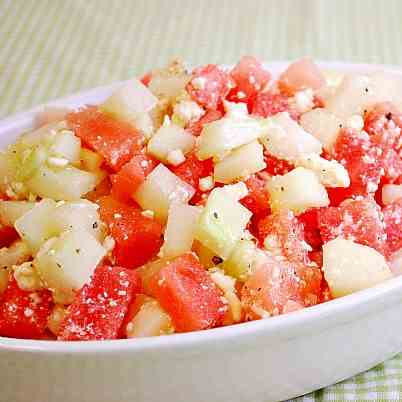 Watermelon & Cucumber Salad