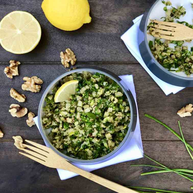 Cauliflower with Leeks, Kale - Walnuts