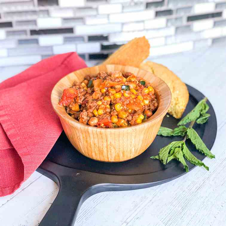 Summer Lamb Chili