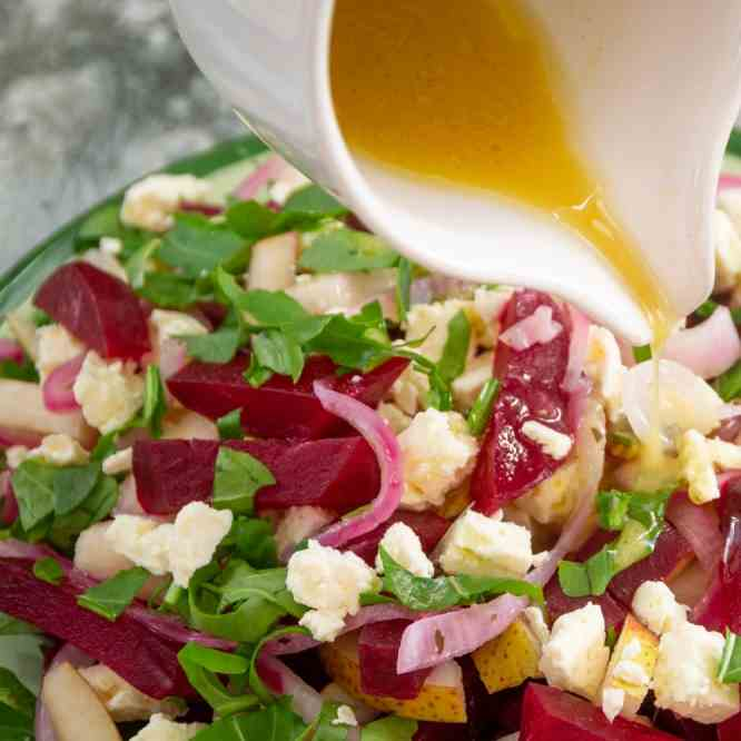 Beetroot Salad with Feta and Pear