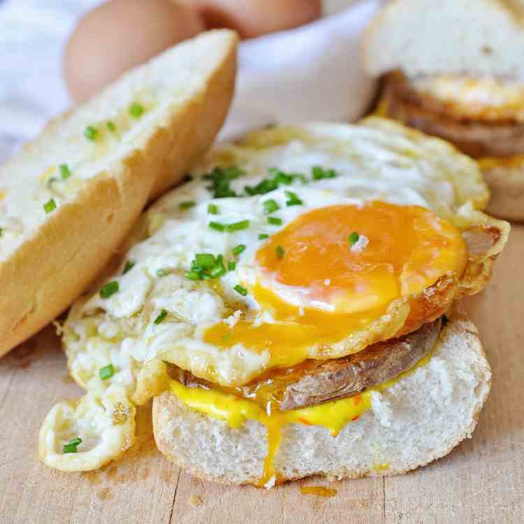 Crispy Fried Egg Sandwich
