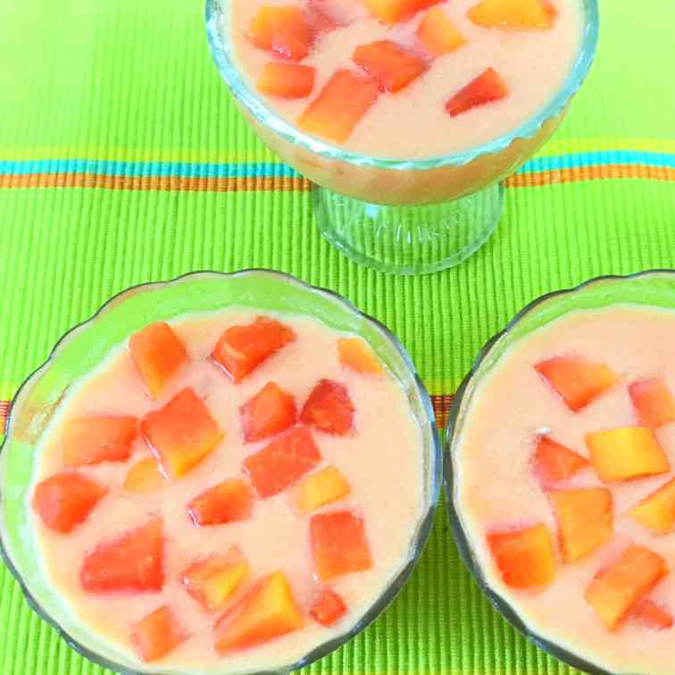 3 Ingredients Papaya pudding