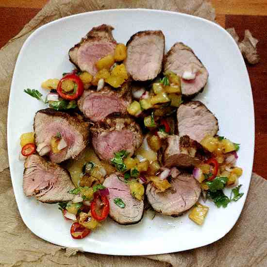 Caribbean Grilled Pork Tenderloin