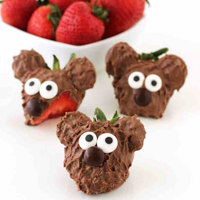 Chocolate Covered Strawberry Bears