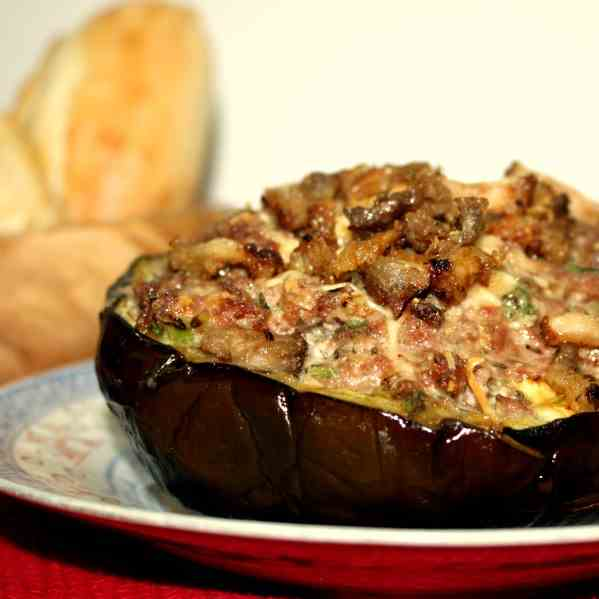 Stuffed Eggplant with topping