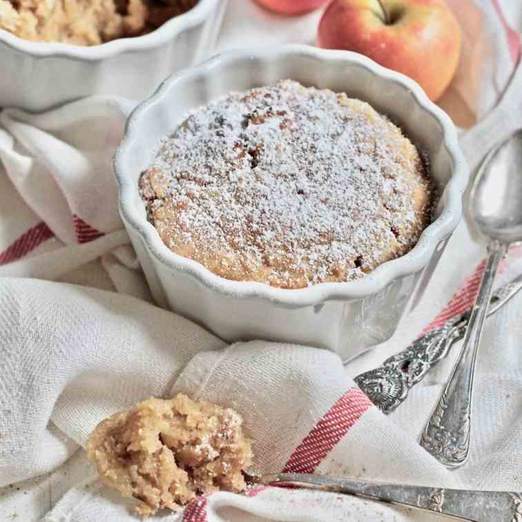 Vegan Mug Cake with Apples